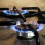 Gas Stove Top Appliance with Blue Flame, Gas Fitting